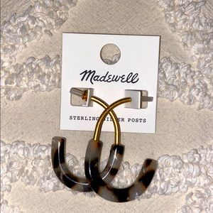 Madewell Hoop Earrings (tortoise & gold toned)
